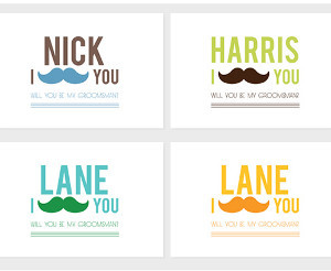 i mustache you groomsman invitation allfreediyweddings com