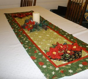 Basket of Poinsettias Table Runner