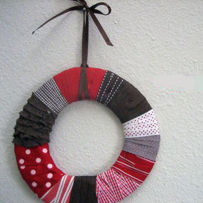 Ribbon Wrapped Wreath