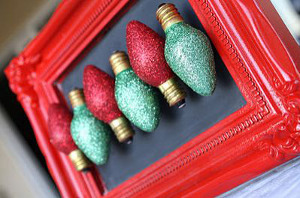 Glitter Christmas Light Magnet