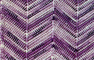 Twilight Chevron Afghan
