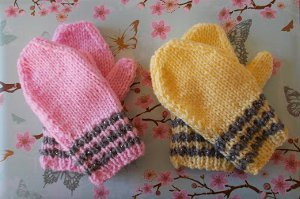 Striped Toddler Mittens