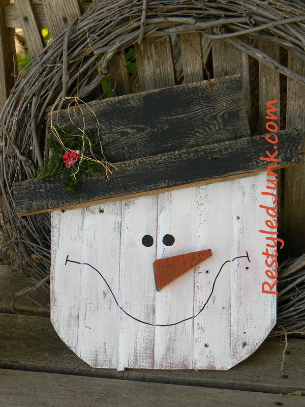 Rustic Wood Snowman Head AllFreeChristmasCrafts