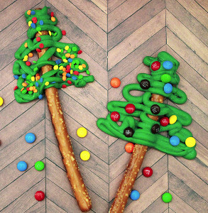 Pretzel Christmas Trees