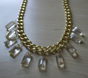 Chain and Crystal Collar