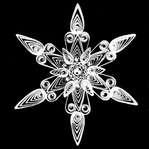 Frosted Ice Quilled Snowflake