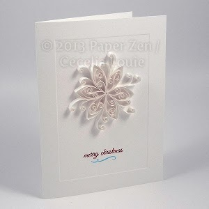 Snowflake Card Quilling Grid