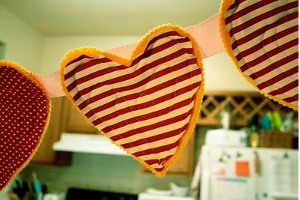 Valentines Day Heart Bunting