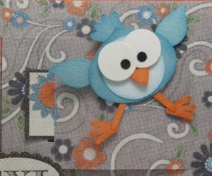 Cute Cuckoo Paper Bird Craft