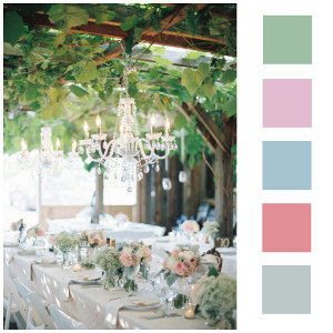 Pretty Pastel Orchard Wedding Decor