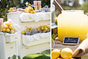 DIY Wedding Ceremony Lemonade Station