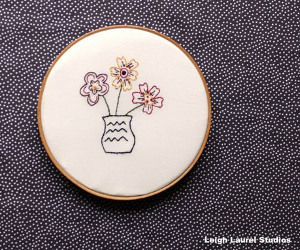 Delicate Flowers Embroidery Pattern