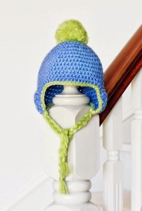 Big Pom Pom Crochet Baby Hat