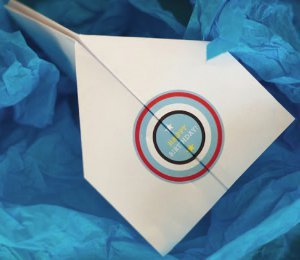 Paper Airplane Birthday Card