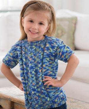 Girls knit cable sweater allfreeknitting dt1010fo