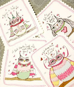 OWLful Cute Printable Valentine Cards