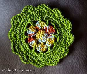 Starburst Crochet Dishcloth