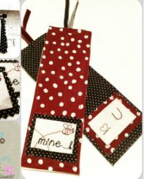 Be Mine Fabric Bookmark