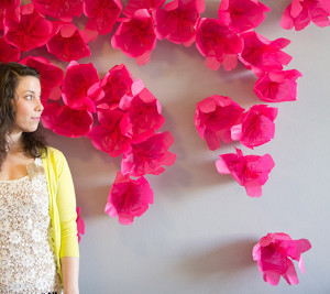 How to Make a Paper Flower Backdrop AllFreeDIYWeddingscom