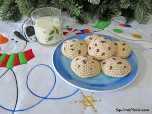 Crochet Chocolate Chip Cookies