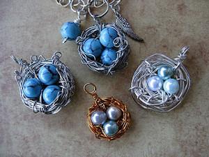 Birds nest pendant allfreejewelrymaking birds nest pendant aloadofball Choice Image
