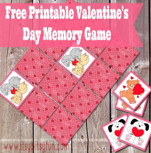 Printable Valentine Memory Game
