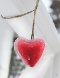 Valentine Heart Ice Art