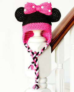 Minnie Mouse Crochet Hat Pattern