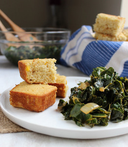 Cajun Greens and Cornbread