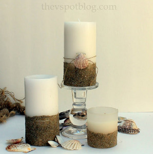 Sand-Dipped DIY Candles