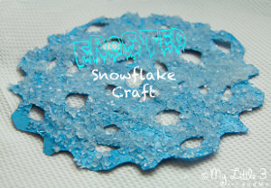 Frosted Snowflake Craft