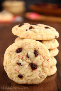 Very Cherry Funfetti Cookies