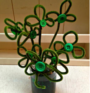 Pipe Cleaner Shamrock Bouquet