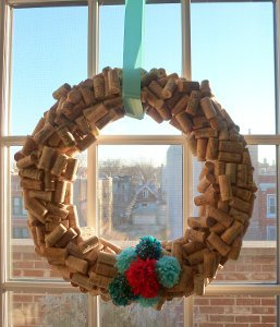 Beautiful DIY Cork Wreath
