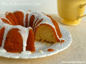 Slow Cooker Lemon Love Cake