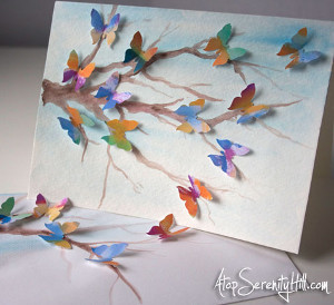 Hello Butterflies Card
