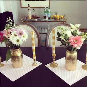 Gorgeous in Gold Mason Jar Vases