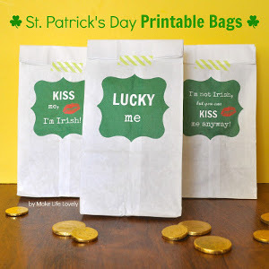 St. Patrick's Day Lunch Bag Printables