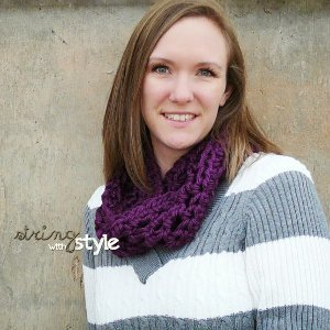 50 Minute Easy Crocheted Scarf