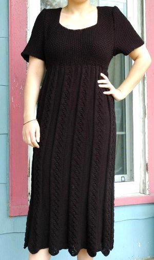 Elegant Empire Waist Knit Dress Pattern Allfreeknitting