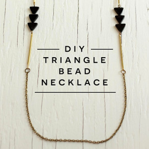DIY Triangle Bead Necklace