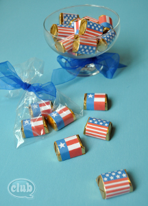 All-American Flag Wraps for Little Chocolates