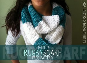 Color Blocked Crochet Scarf