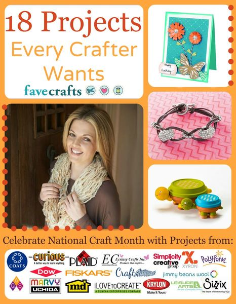 18 Projects Every Crafter Wants free eBook