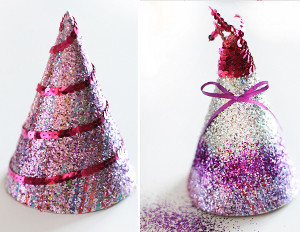 Glitz and Glitter DIY Party Hats