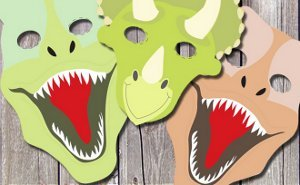 Exceptional Free Printable Dinosaur Masks