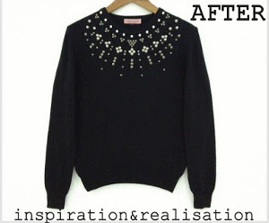 DIY Sweater Stud Upcycle