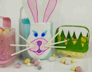 Milk Jug Homemade Easter Baskets