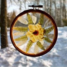How To Make Pressed Flower Suncatchers