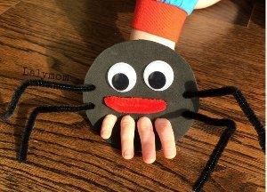 Itsy Bitsy Spider Finger Puppets Allfreekidscrafts Com